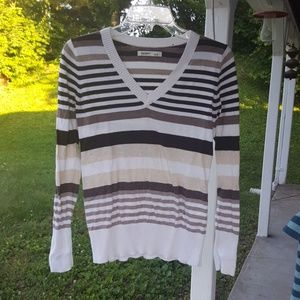 Old navy brown striped sweater